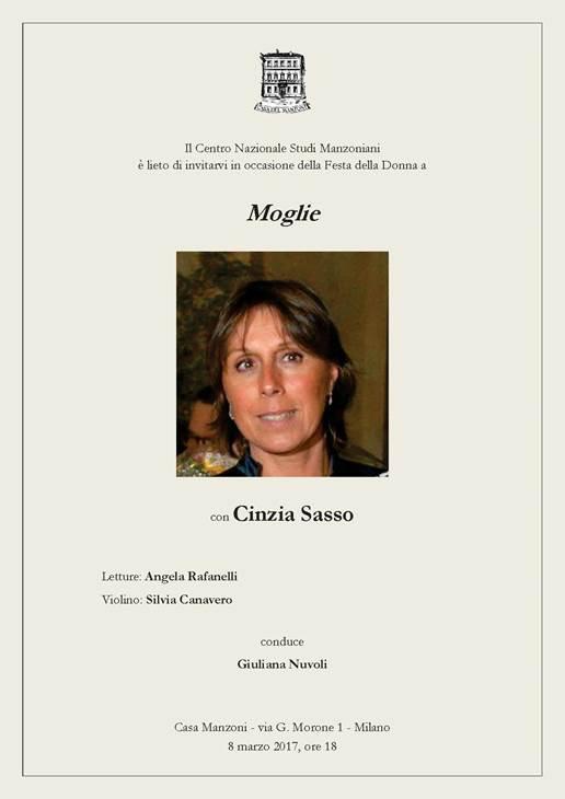 Moglie Cinzia Sasso 8 marzo 1