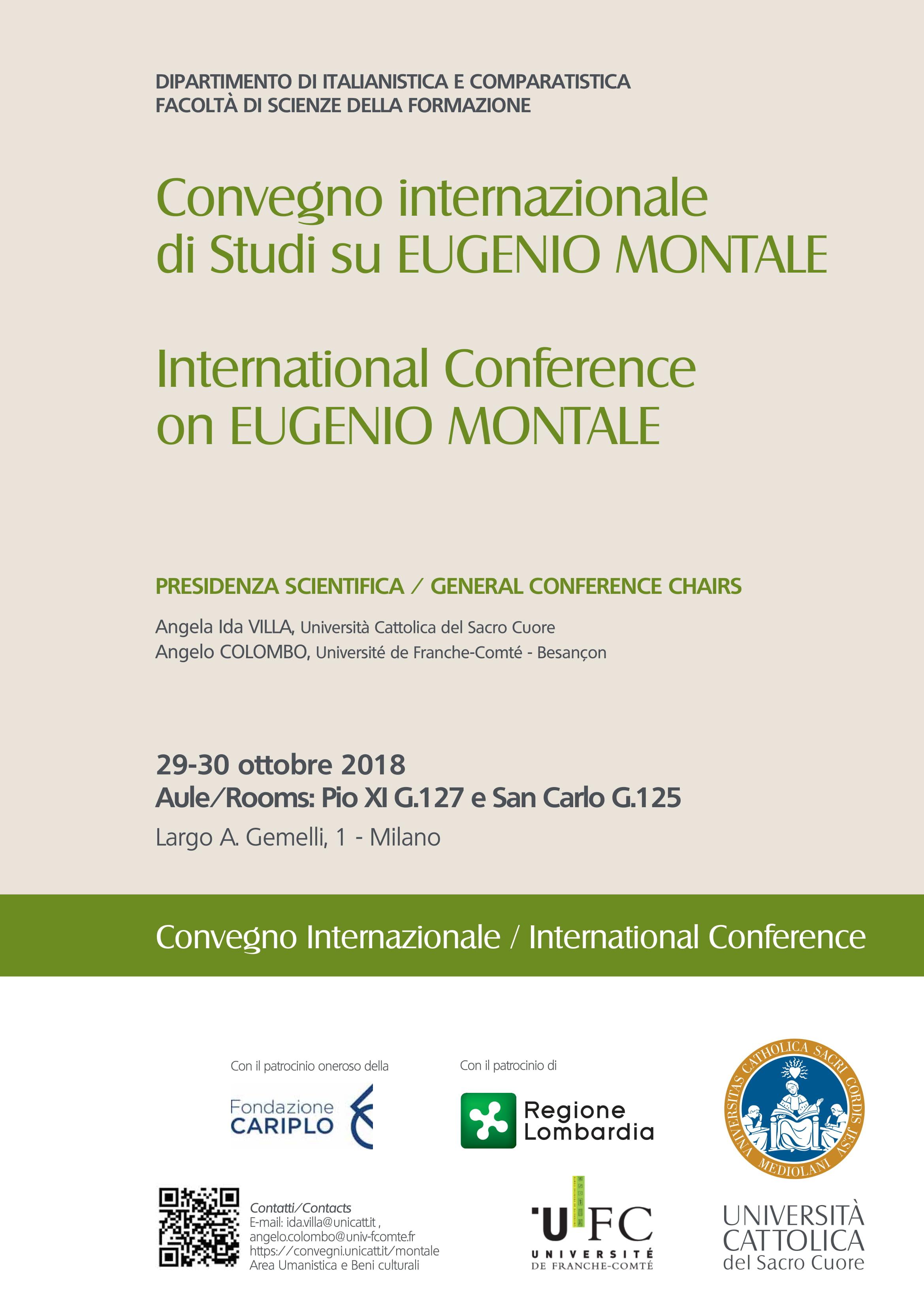 EUGENIO MONTALE Convegno internazionale 2018-1