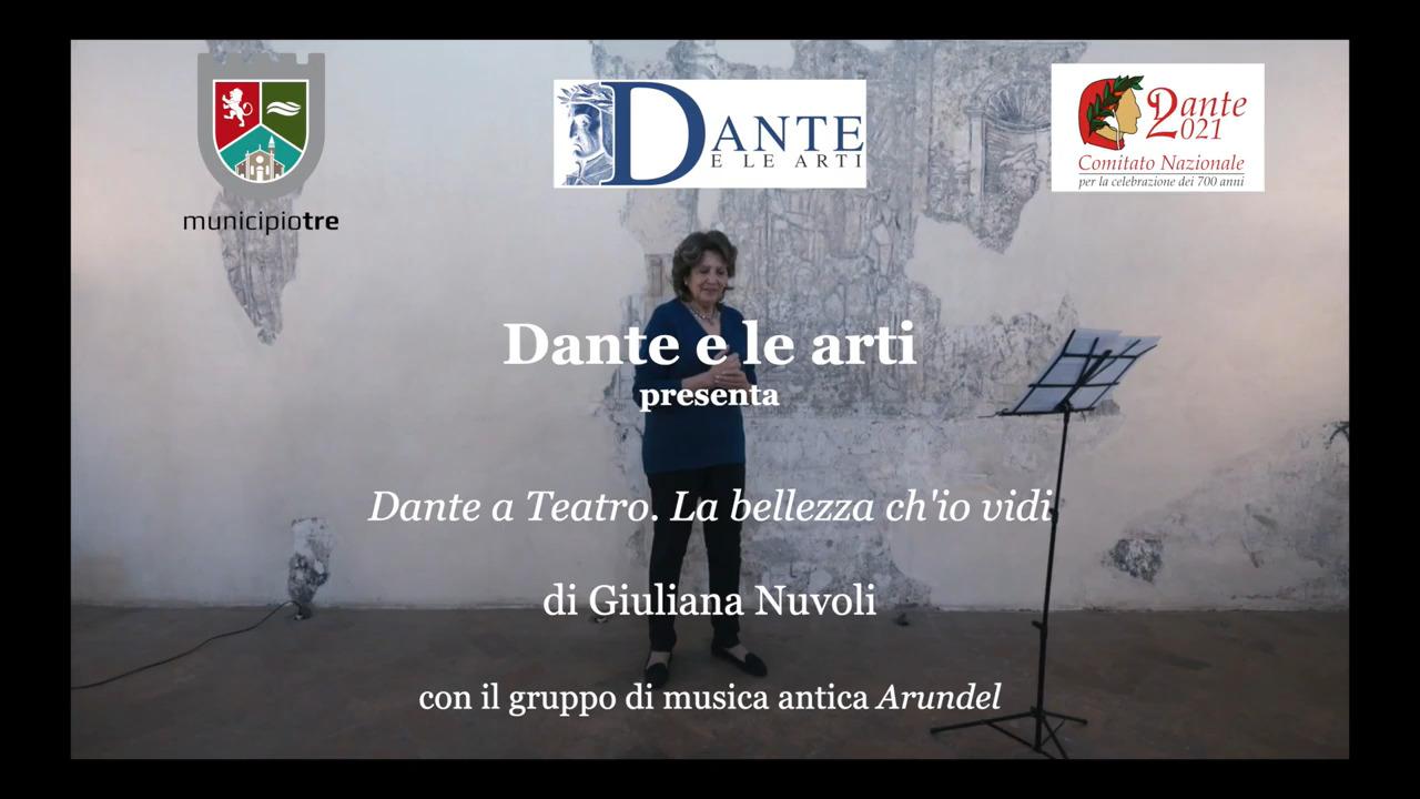 La bellezza ch'io vidi, di e con Giuliana Nuvoli, con il Gruppo di musica antica Arundel, Monastero di San Pietro in Lamis (BS), 29 dicembre 2020, ore 21, https://www.youtube.com/watch?v=BGKL3OQ1k14&t=287s